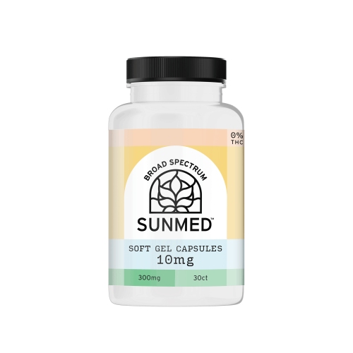 Sunmed CBD Water Soluble Capsules - 0% THC