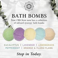 Sunmed CBD Bath Bombs - Relaxing, Calming, Soothing- 100Mg.