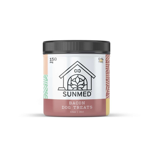 Sunmed CBD Bacon Dog Treats 0% TCH